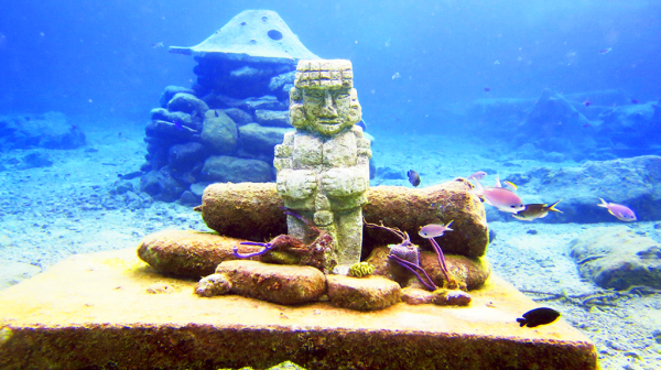 Cozumel Statue Reef Ball